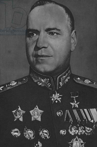 Marshal Zhukov, Commander of the 1st Byelorussian Front (b/w photo)