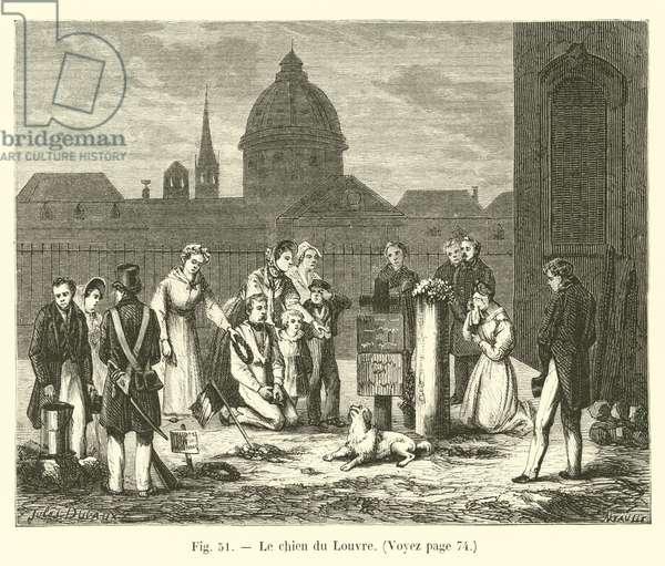 Le chien du Louvre (engraving)