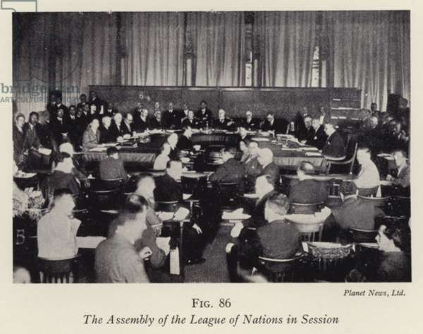 The Assembly of the League of Nations in Session (b/w photo)