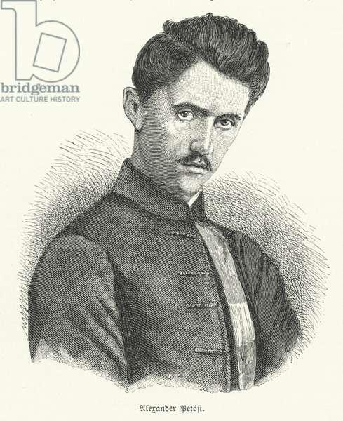 Sandor Petofi, Hungarian poet (litho)