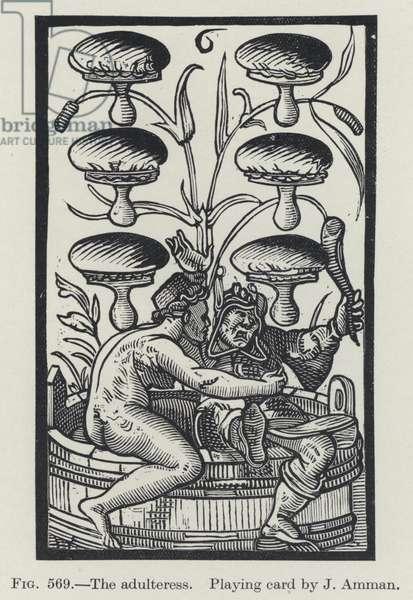 The adulteress (litho)