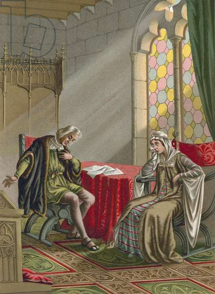 Interview between Columbus and Queen Isabel