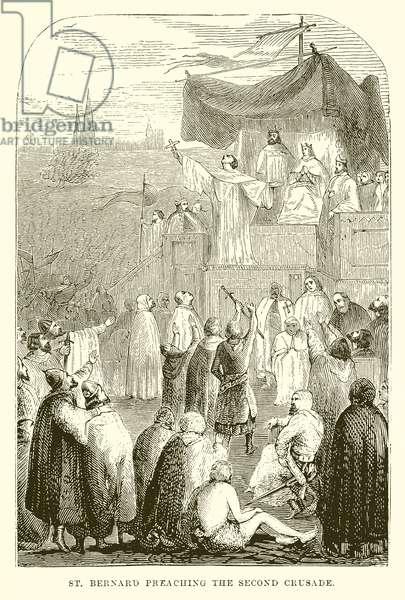 St. Bernard Preaching the Second Crusade (engraving)