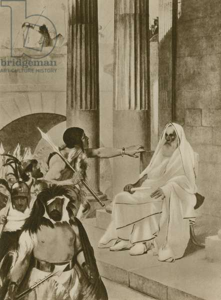 A tragic scene in Ancient Rome (gravure)
