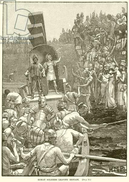 Roman Soldiers leaving Britain (engraving)