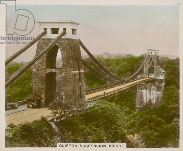 Clifton Suspension Bridge (coloured photo)