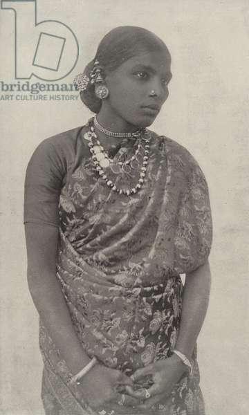 Singhalese Woman (b/w photo)