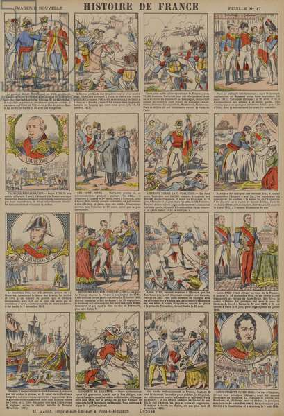 History of France from the Battle of Leipzig to the Revolution of 1830 (colour litho)