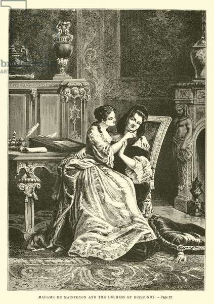 Madame de Maintenon and the Duchess of Burgundy (engraving)