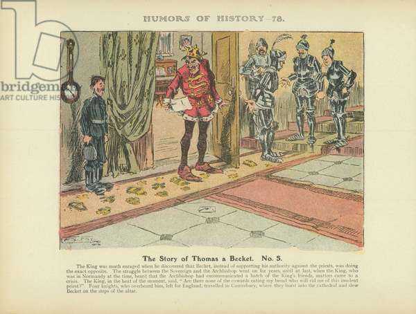 The Story of Thomas a Becket. No. 5 (colour litho)