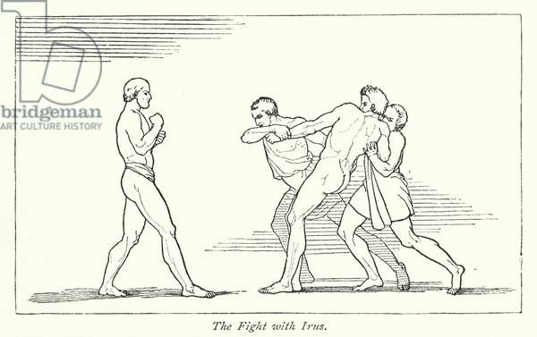 The Fight with Irus (litho)