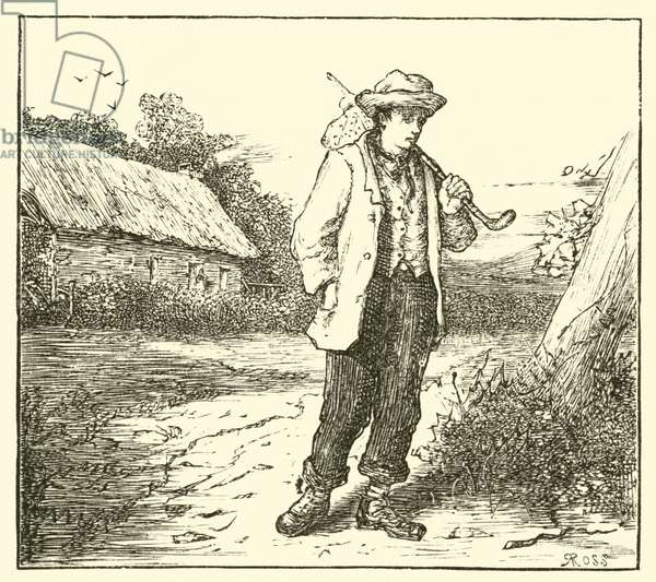 Hans Christian Anderson, on his way to Copenhagen (engraving)