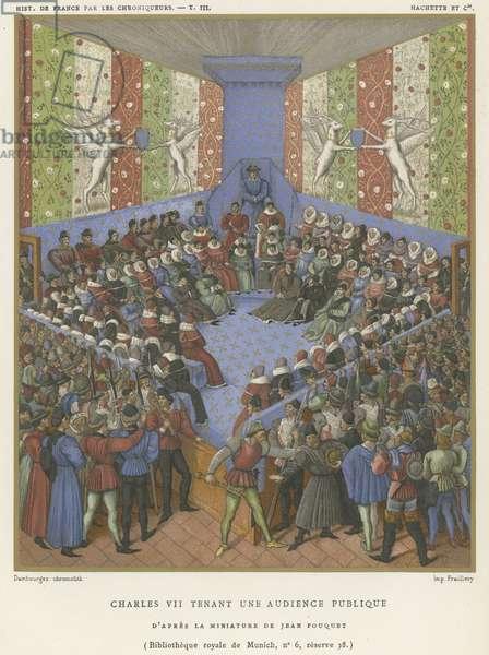 Charles VII holding a public audience (chromolitho)