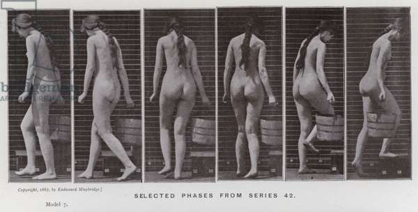 The Human Figure in Motion: Selected phases from series 42 (b/w photo)