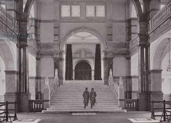 Entrance Hall of the University of London (b/w photo)