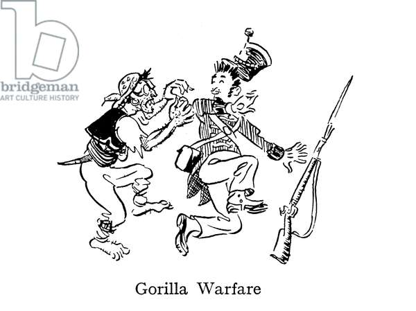 Gorilla Warfare, as practised in Spain and Portugal during the Napoleonic wars (lithograph)