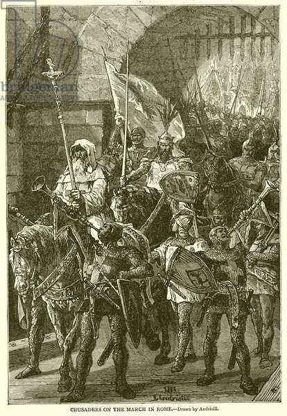 Crusaders on the March in Rome (engraving)