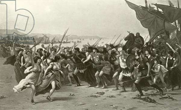 The victors of Salamis (gravure)