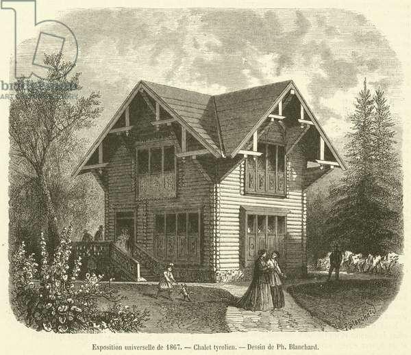 Exposition universelle de 1867, Chalet tyrolien (engraving)