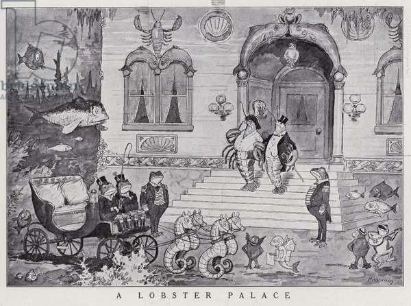 Lobster palace under the sea (litho)