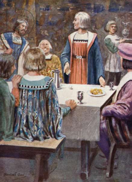 'We could have done that,' said the Courtiers (colour litho)