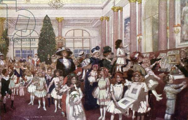 Christmas Festivities for Children, Savoy Hotel (colour litho)