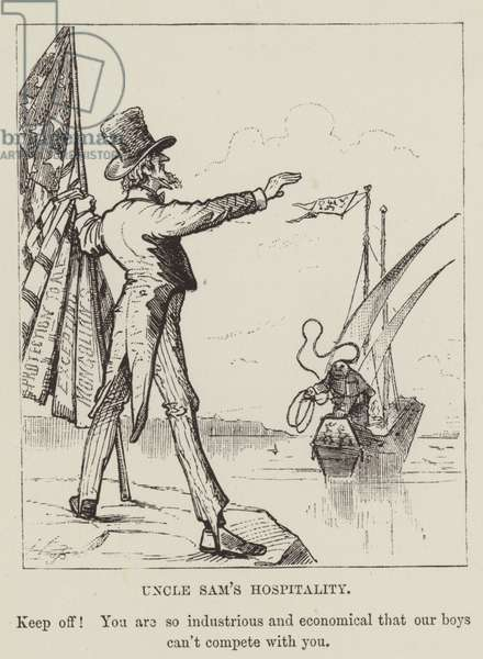 Uncle Sam's Hospitality (engraving)