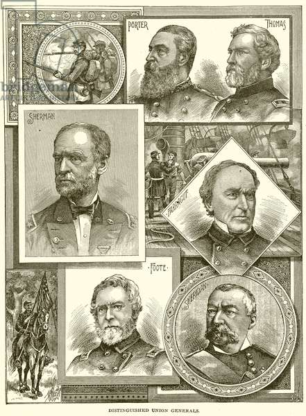 Distinguished Union Generals (engraving)