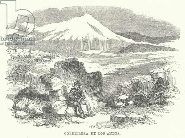 Cordillera De Los Andes (engraving)