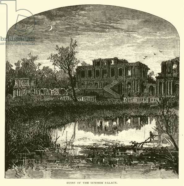 Ruins of the Summer Palace (engraving)