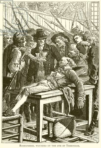 Robespierre Wounded on the 9th of Thermidor (engraving)