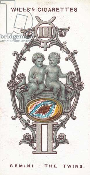 Gemini, The Twins (chromolitho)