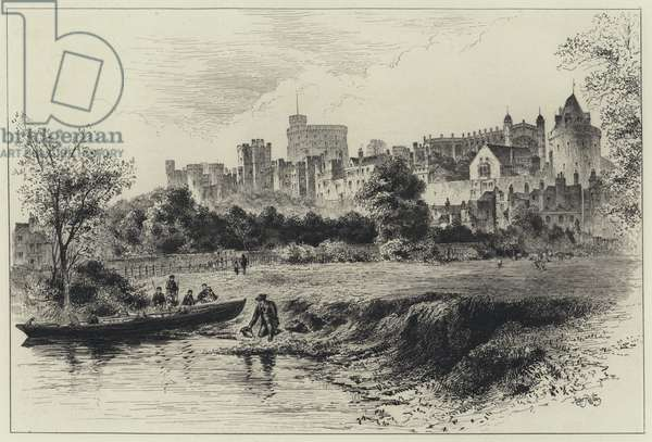 Windsor Castle from the Berkshire Shore (engraving)