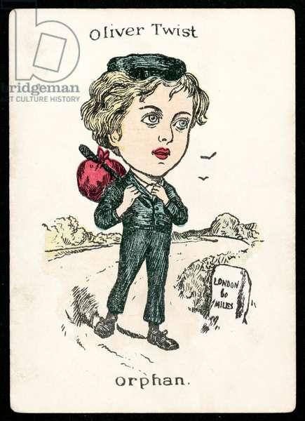 Oliver Twist, Orphan (colour litho)