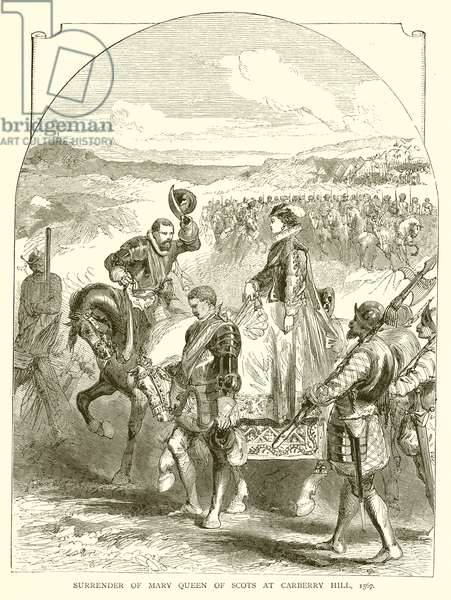 Surrender of Mary Queen of Scots at Carberry Hill, 1567 (engraving)