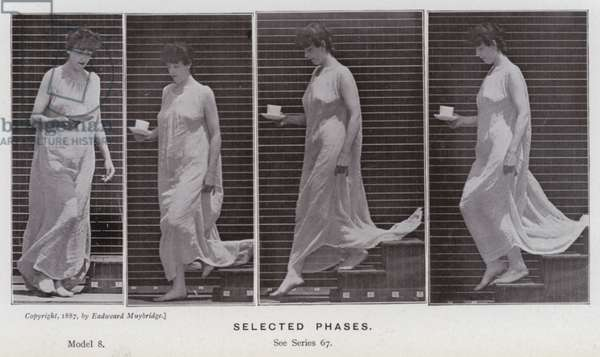 The Human Figure in Motion: Selected phases (b/w photo)