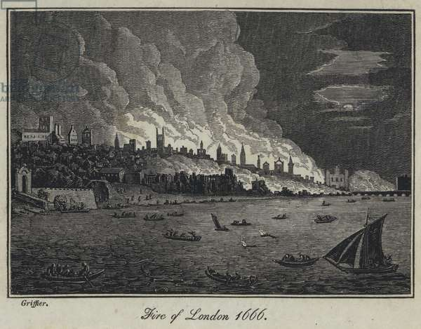 Fire of London 1666 (engraving)
