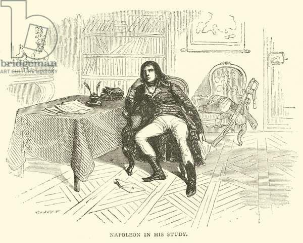 Napoleon in his study (engraving)