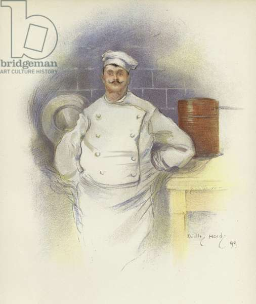 Head Chef at the Savoy Hotel (colour litho)