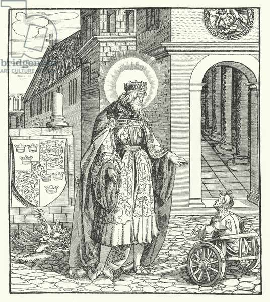 St Edward the Confessor, King of England (engraving)