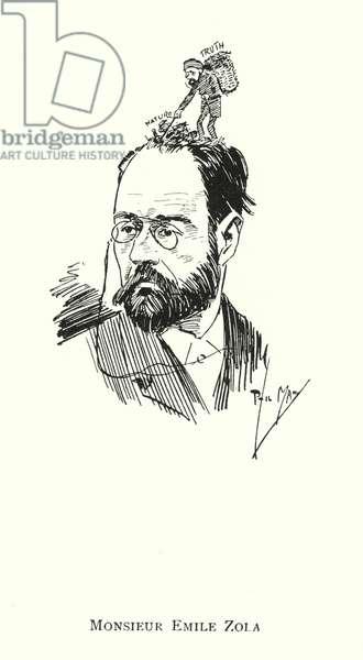 Monsieur Emile Zola (litho)