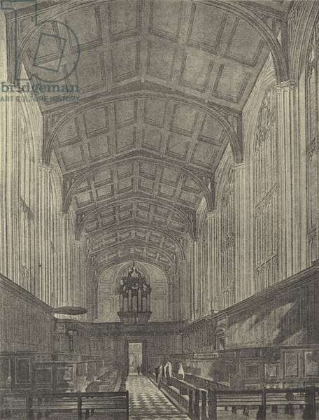 The Chapel, looking West, 1816 (gravure)