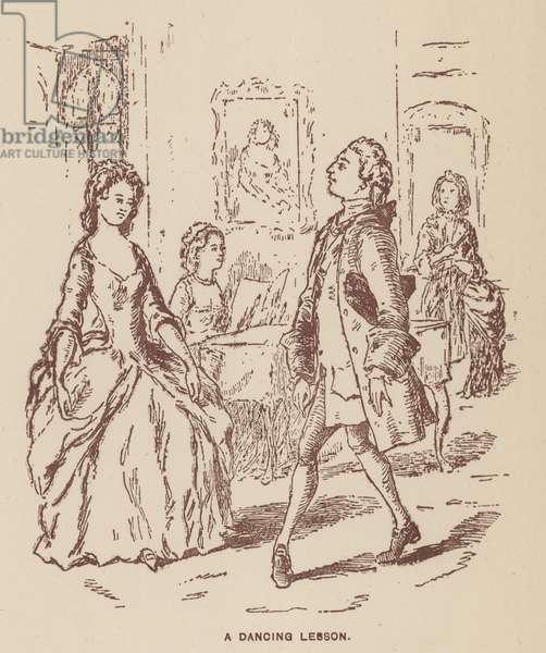 Illustration for The Virginians by Thackeray (litho)