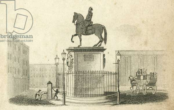 Statue of King Charles I at Charing Cross, London (engraving)