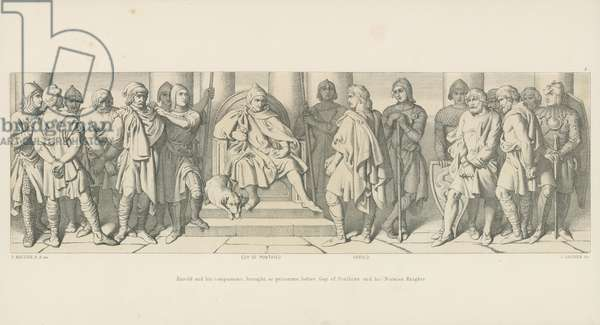 Harold and his Companions, brought, as Prisoners, before Guy of Ponthieu and his Norman Knights