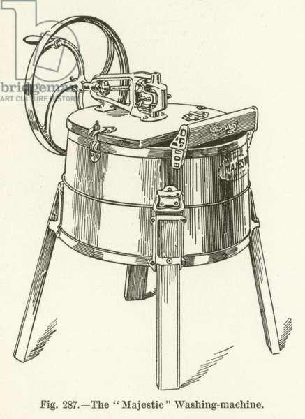 """The """"Majestic"""" Washing-machine (engraving)"""