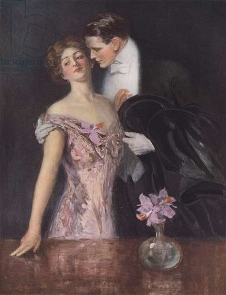 The sender of the orchids (colour litho)