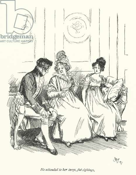 Illustration for Persuasion by Jane Austen (litho)