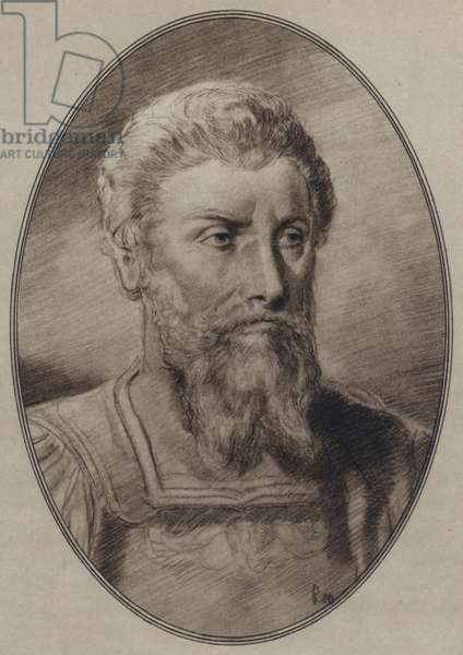Portraits of Great Philosophers: Marcus Aurelius (litho)