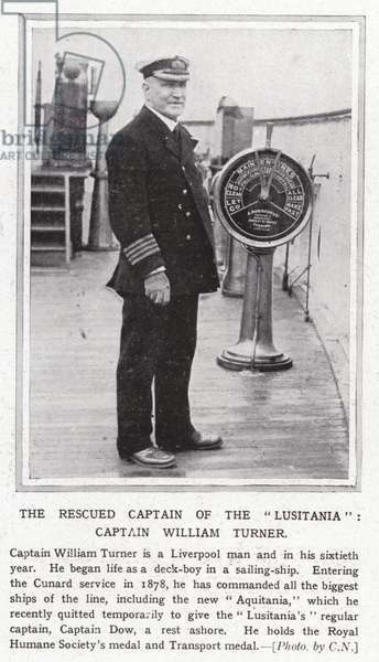 The rescued captain of the Lusitania, Captain William Turner (b/w photo)
